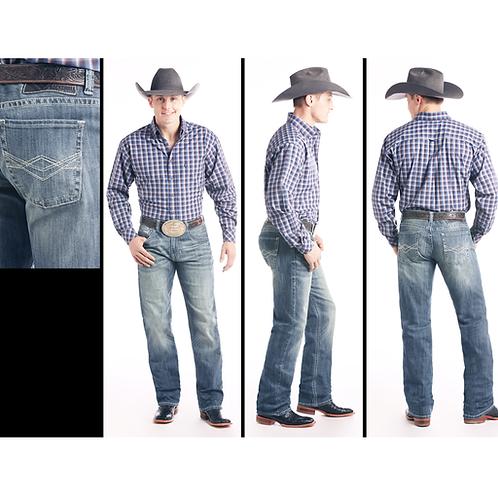 Rock & Roll Denim Medium Vintage Reflex Straight Jeans
