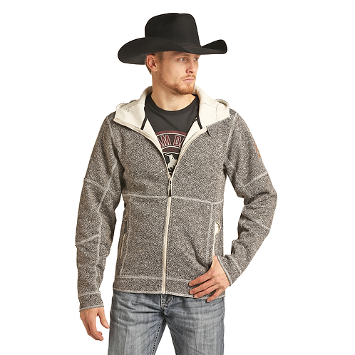 Powder River Outfitters Heavy Knit Sweater Full Zip Jacket