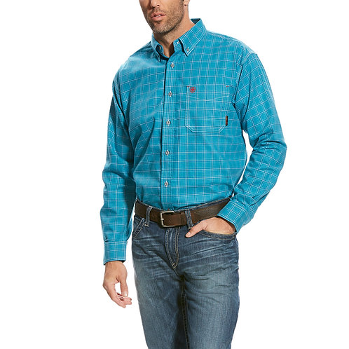 Ariat Turquoise Checkered Western Shirt
