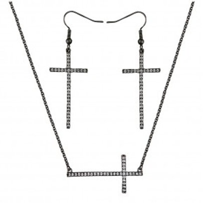 The Straight Path Cross Jewelry Set in Antique