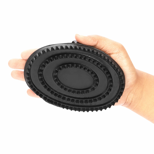 Large Black Rubber Curry