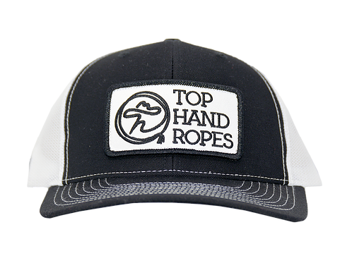 Top Hand Ropes Black & White Mesh Logo Cap