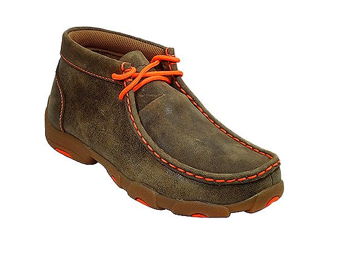 Twisted X Youth Driving Moccs - Orange