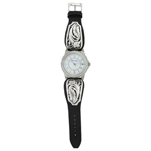 Montana Silversmith WCH3343 Black Filigree & Scroll Watch