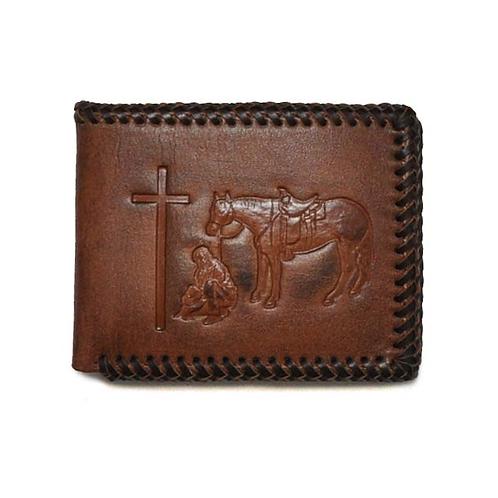 Nocona Praying Cowboy Removable Passcase Wallet