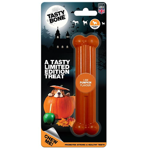 Tasty Bone Small Halloween Edition Toy - Pumpkin