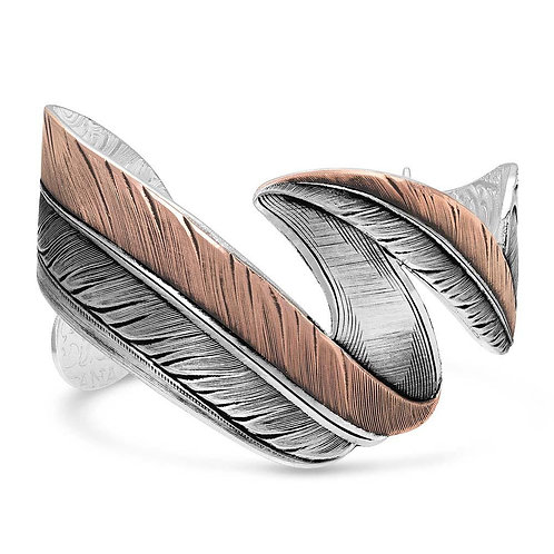 Montana Silversmith Antiqued Winding Feather Cuff