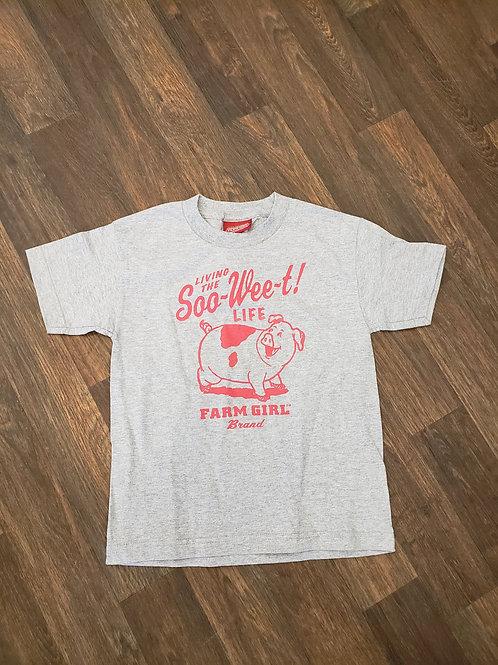 "Grey Farmgirl Brand ""Living The Soo-Wee-t! Life T-shirt"