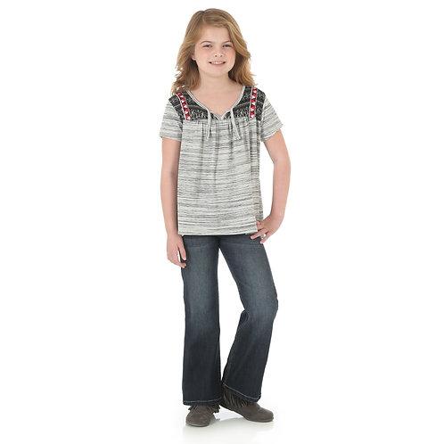 Wrangler Ivory and Black Stripe Top