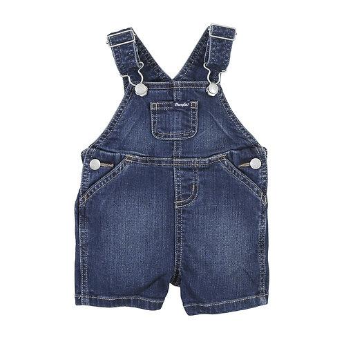 Wrangler Infant Blue Denim Overall Shorts