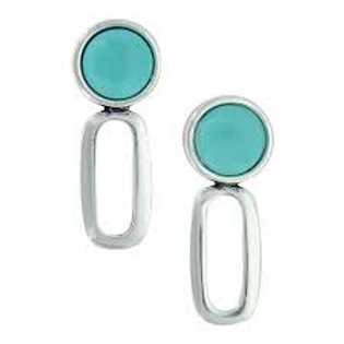 Montana Attitude Jewelry Turquoise Stone Stud Earrings