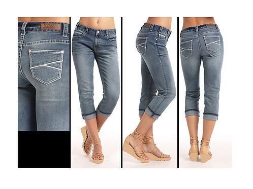 Rock & Roll Cowgirl Boyfriend Crop Jeans