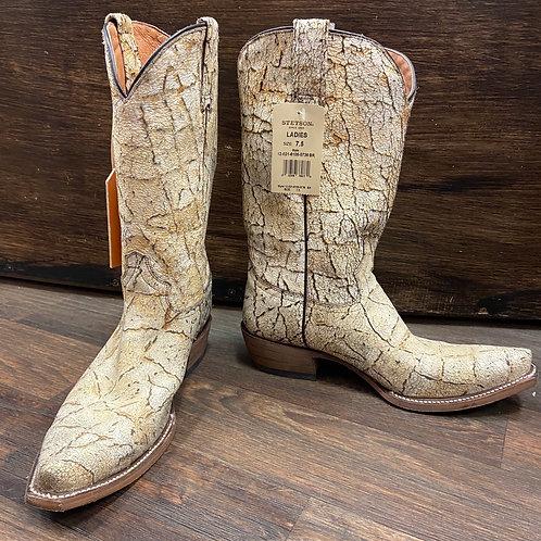 Stetson Cream Crackle Boots