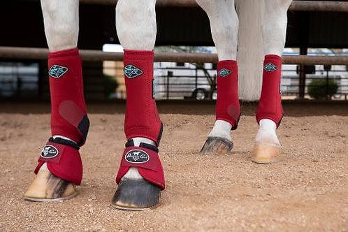 2XCool Sports Medicine Boots 4 Pack - Crimson