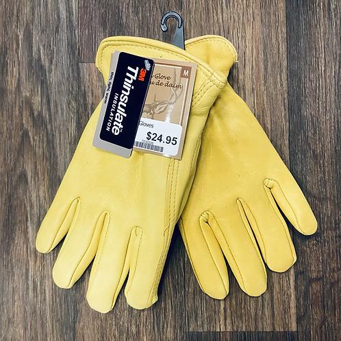 Deer Skin Gloves -  100G Thinsulate