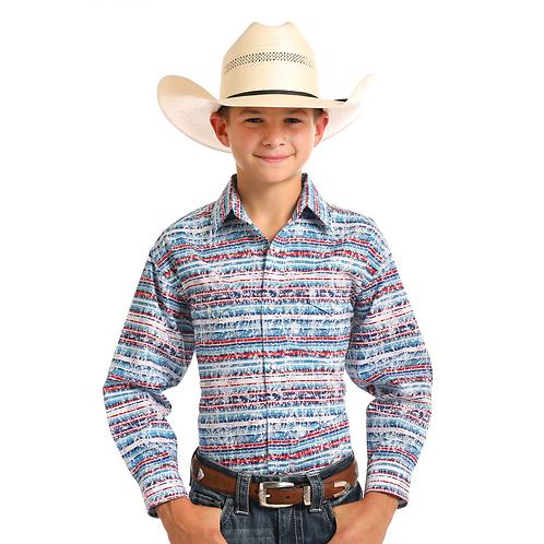 Boys Panhandle Simeon Aztec Western Shirt