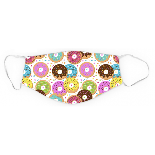 Dreamers & Schemers 2 Layer Lycra Mask - Go Nuts For Donuts