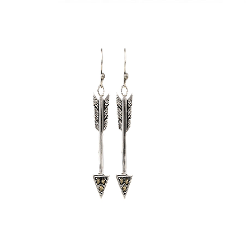 Montana Silversmith Arrow Drop Down Earrings