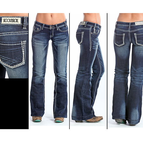 Rock & Roll Denim Simple Stitch Trouser Jeans