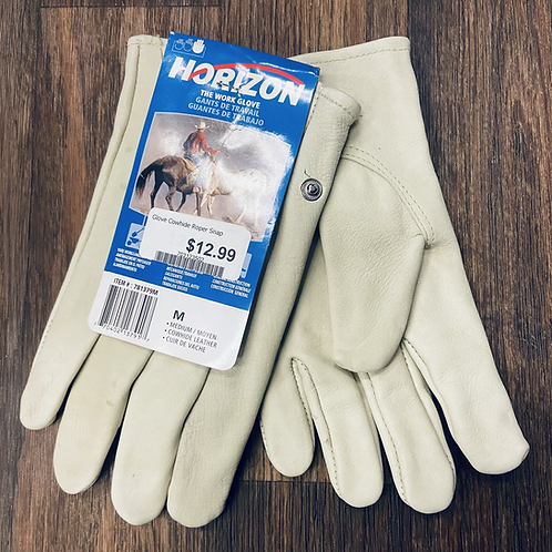 Horizon - Cowhide Roper Button Cuff Unlined Gloves