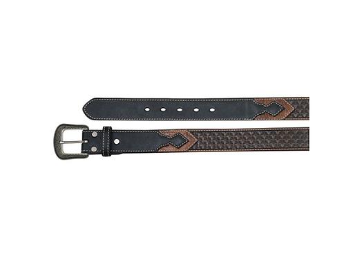 Hooey Dark Brown Patterned 1654BE1 Belt