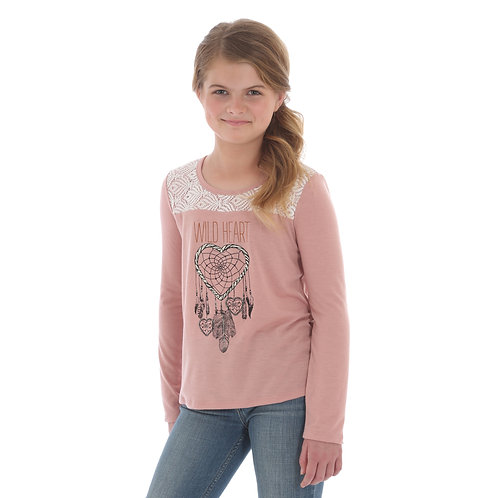 Wrangler Dusty Rose Dream Catcher Top