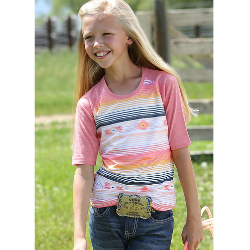 Girls Cinch Pink Serape T-Shirt