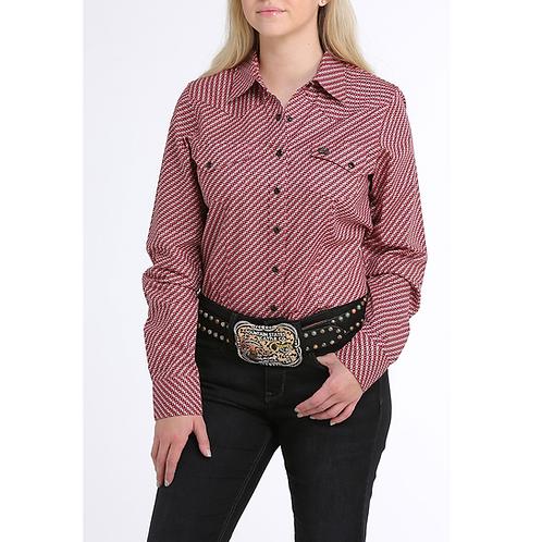 Cinch Grapefruit Geo Print Western Shirt