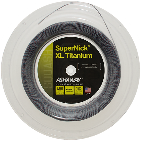 SuperNick XL Titanium Squash Strings Reel