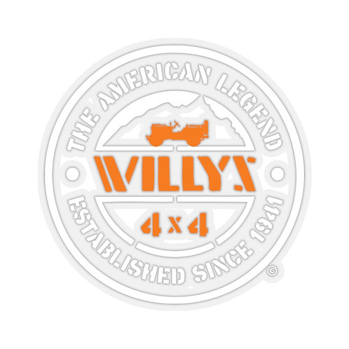 WILLYS Flat Fender Jeep - Sticker