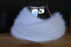 snood angora tricoté main