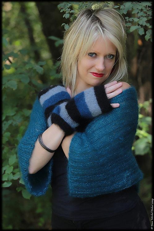 Paire de mitaines tricotées main