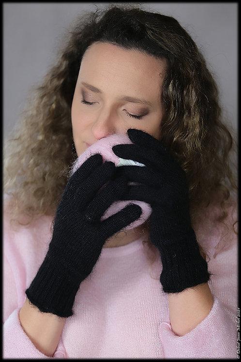 Paire de gants en mohair et soie