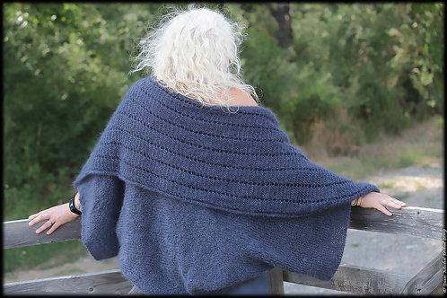 Veste tricotée en Kid Mohair