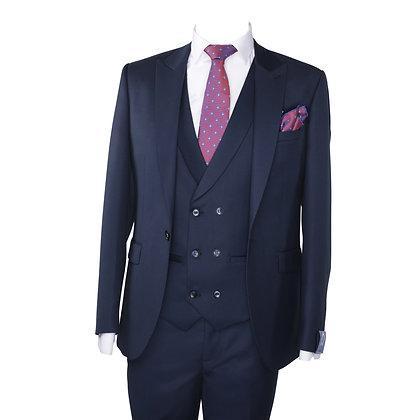 Cravate violet motif point