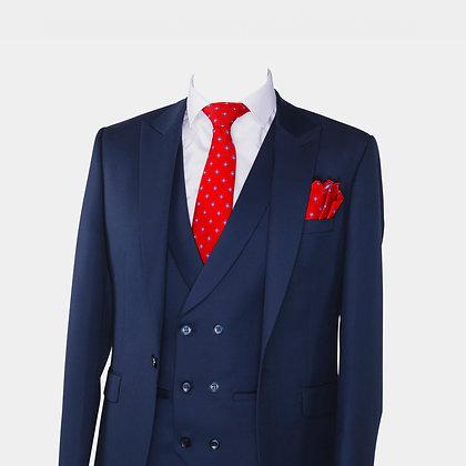 Cravate et pochette rouge