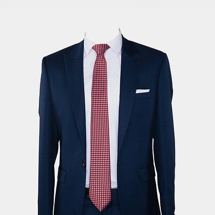 Cravate rouge avec pochette