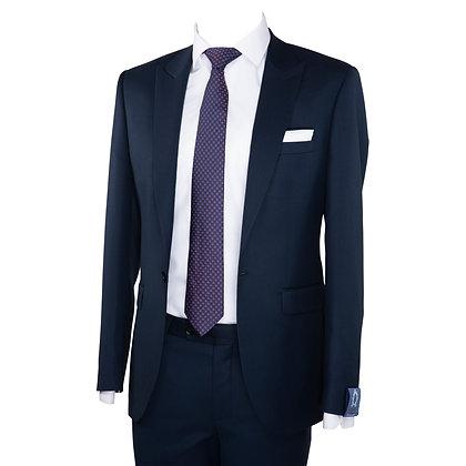 Cravate violet motif carreaux