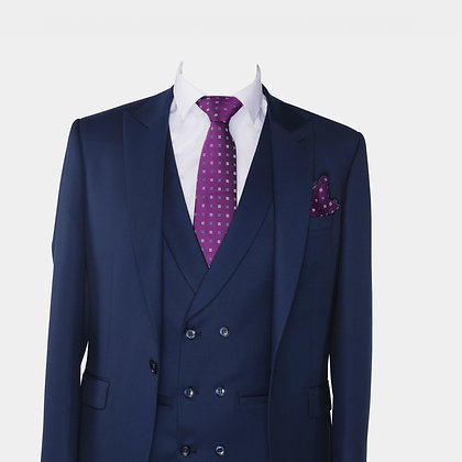 Cravate et pochette violet