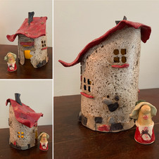 """""""Ruffled Roof"""" Gnome Home"""