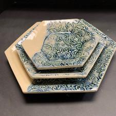 Set of 3 Hexagonal Plates