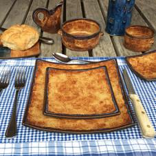 "Square Dinnerware - ""Nantucket"" pattern"
