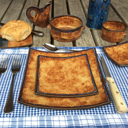 "Square Dinnerware - ""Nantucket"" pattern"