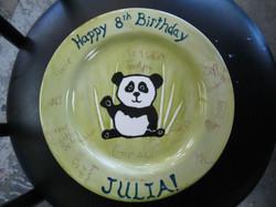 Birthday Plate - Panda