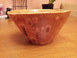 Cone bowl - crystal glaze