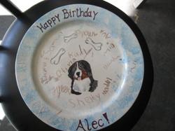 Birthday Plate - Bernese Mountain Dog