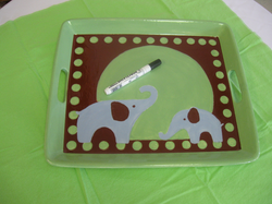 """Baby shower - custom platter """"Great Memory"""""""