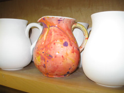 Small Pitcher - painted splatter