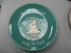 Wedding plate - congrats joe & Michelle
