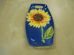 Small handled platter sunflower!